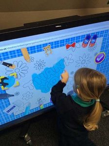 Exploring our interactive screen.