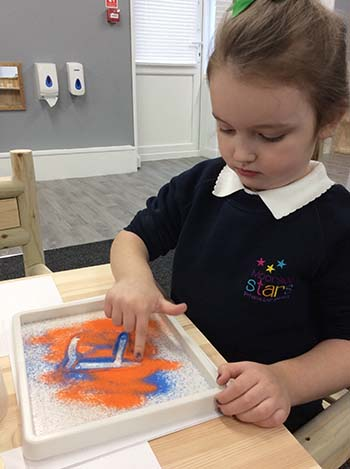 Practising letters